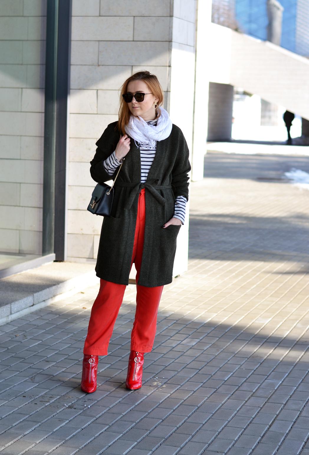 OOTD | Kaip dėvėti raudonas kelnes?